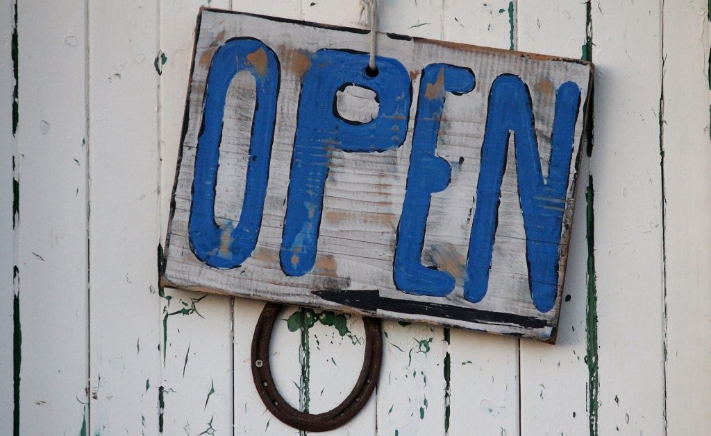 Wir öffnen am 4.5.20